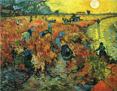 Red Vineyards at Arles by van Gogh